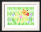 Cute Ladybug on Flower Posters