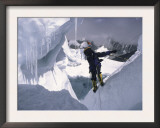 Mountaineer Travelling Through Khumu Ice Fall, Everest Nepal Posters by Michael Brown
