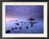 St Michael's Mount at Sunrise, from Marazion Beach, Cornwall, Uk. November 2008 Posters by Ross Hoddinott