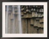 Svartifoss Waterfall and Basalt Rock Columns in Skaftafell National Park, Iceland Prints by Inaki Relanzon