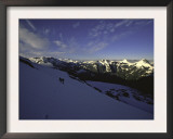 Shadows Over Climbers on Mountain Top, New Zealand Prints by Michael Brown