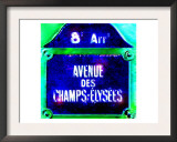 Ave Champs-Elysees Sign, Paris Prints by  Tosh