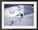 Mountaineer Crossingover a Crevase in the Khumbu Ice Fall, Nepal Prints by Michael Brown
