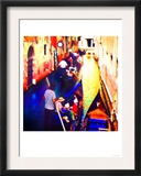 Gondolas On Canal, Venice Prints by  Tosh