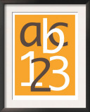 Orange ABC and 123 Poster by  Avalisa