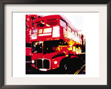 Red Bus, London Art by  Tosh