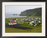 Town of Vik, South Coast of Iceland Prints by Inaki Relanzon