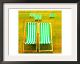Hyde Park Deck Chairs, London Prints by  Tosh