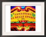 Carrousel Belle Epoque, Paris Art by  Tosh