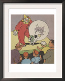 Dog And Clown At The Circus Poster by Constance Heffron