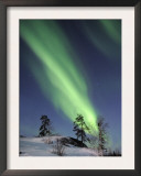 Northern Lights Northwest Territories, March 2008, Canada Posters by Eric Baccega