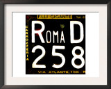 License Plate, Rome Prints by  Tosh