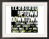 Uptown and Downtown, New York Prints by  Tosh
