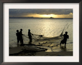 Fishermen Pulling in the Nets at Dawn, Ramena Beach, Diego Suarez, North Madagascar Art by Inaki Relanzon