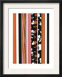 Stripes with Flowers and Circles Prints