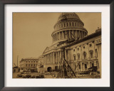 Capitol under Construction, Washington, D.C., c.1863 Prints by Andrew J. Johnson