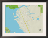 Political Map of Grove City, FL Print