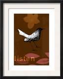 Listen Bird Poster