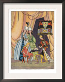 Illustration From Cinderella Of Prince Putting Slipper On Cinderella Prints by Lois Lenski