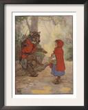 Illustrtation From Little Red Riding Hood Art by Frank Adams