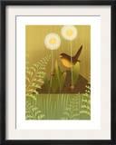 Bird with Ladybugs Prints