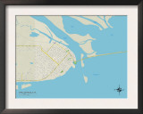 Political Map of Apalachicola, FL Poster