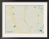 Political Map of Port Saint Lucie, FL Poster