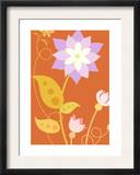 Flowers with Stems and Leaves Prints