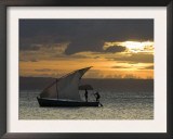 Fishing Boat at Dawn, Ramena Beach, Diego Suarez in North Madagascar Prints by Inaki Relanzon