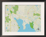Political Map of Oldsmar, FL Posters