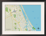 Political Map of Port Orange, FL Art