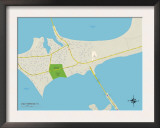 Political Map of Gulf Breeze, FL Prints