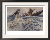 Urashima Prints by Warwick Goble