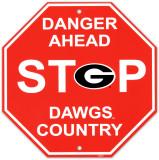 University of Georgia Stop Sign Vægskilt