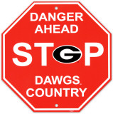 University of Georgia Stop Sign Wall Sign
