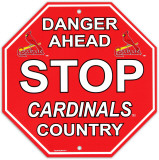 St. Louis Cardinals Stop Sign Wall Sign