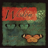 Butterfly Sentiments…Wisdom Affiches
