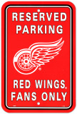 Detroit Red Wings Parking Sign Wall Sign