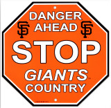 San Francisco Giants Stop Sign Wall Sign