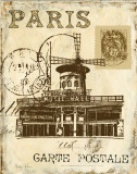 Paris Collage IV Posters by Gregory Gorham