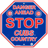 Chicago Cubs Stop Sign Wall Sign