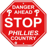 Philadelphia Phillies Stop Sign Wall Sign