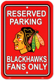 Chicago Blackhawks Parking Sign Wall Sign