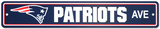 New England Patriots Street Sign Wall Sign