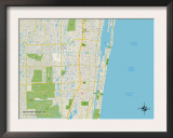 Political Map of Boynton Beach, FL Prints