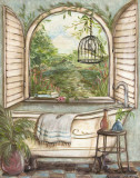 Serene Bath I Print by Kate McRostie