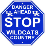 University of Kentucky Stop Sign Wall Sign