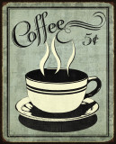 Retro Coffee I Pósters por N. Harbick