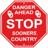 University of Oklahoma Stop Sign Wall Sign
