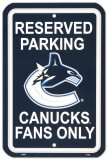 Vancouver Canucks Parking Sign Wall Sign